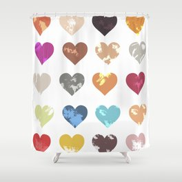 Colorful love pattern Shower Curtain