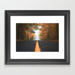 Road sweet road Framed Art Print
