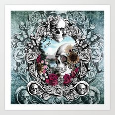 In the mirror.  Art Print