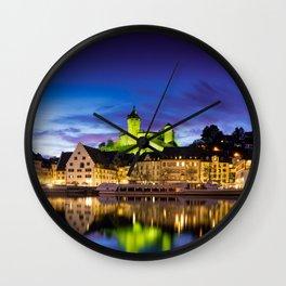 Schaffhausen Panorama Wall Clock