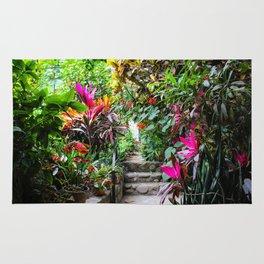 Dreamy Mexican Jungle Garden Rug