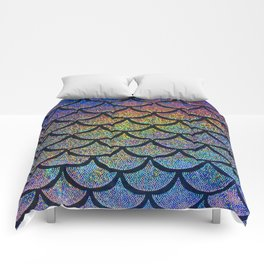 Cobalt Cantaloupe Scales Comforters