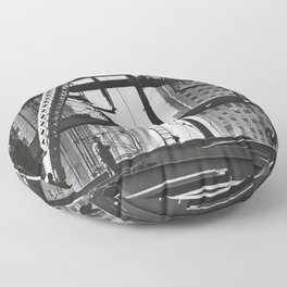 Steel workers New York City Floor Pillow