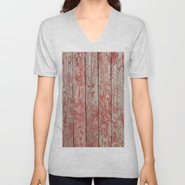 Rustic red wood Unisex V-Neck