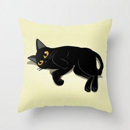 Lying down Throw Pillow