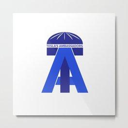 Tesla's Ambassadors Logo Metal Print