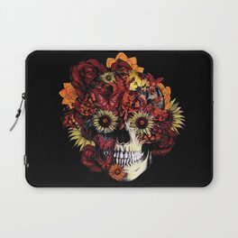 Full circle...Floral ohm skull Laptop Sleeve