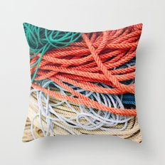 Sailor Rope II Throw Pillow