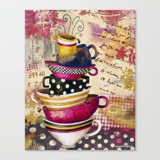 Coffee Cups Divine Candy Colored Edition Canvas Print
