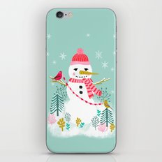 Holiday Snowman by Andrea Lauren  iPhone & iPod Skin