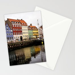 Nyhavn in Copenhagen Stationery Cards