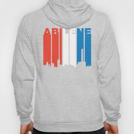 Red White And Blue Abilene Texas Skyline Hoody