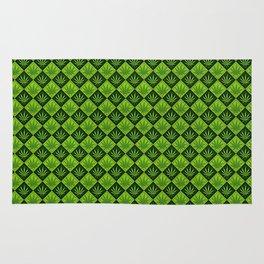 weed pattern Rug