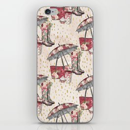 Autumn & Umbrella 5 iPhone Skin
