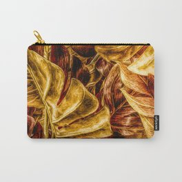 Painted Autumn Monstera palm leaves by Brian Vegas Carry-All Pouch