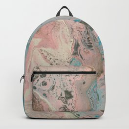 Dirty Acrylic Pour Painting 17, Fluid Art Reproduction Abstract Artwork Backpack