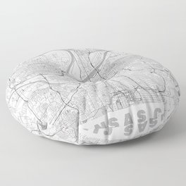 Kansas City Map Line Floor Pillow
