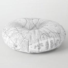Kansas City Map Line Floor Pillow
