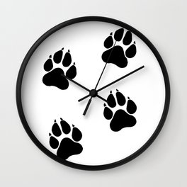 Simba's Paws Wall Clock