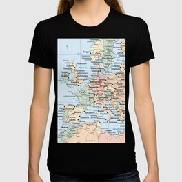World Map Europe T-shirt
