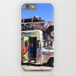 Edgy urban graffiti car art iPhone Case