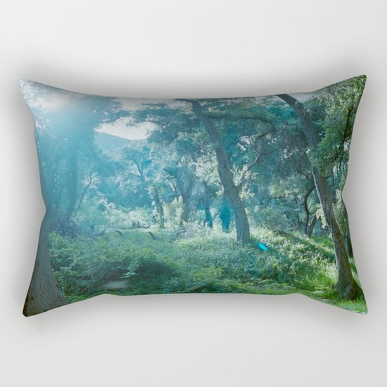 Green Forest I Rectangular Pillow