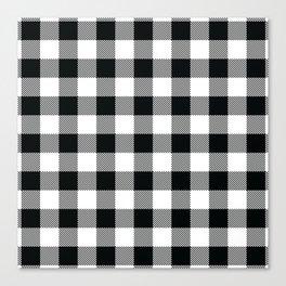 Buffalo Check Black White Plaid Pattern Canvas Print