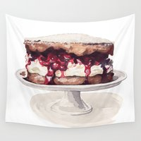 cake Wall Tapestries featuring Cake Time! by Bridget Davidson