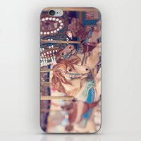 carousel iPhone & iPod Skins featuring Carousel by Laura Ruth