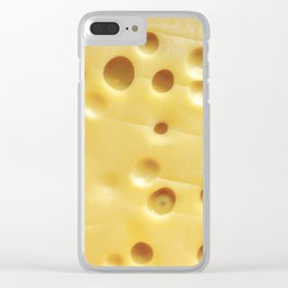Swiss Cheese Clear iPhone Case
