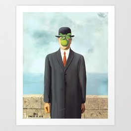 The Apple man Art Print