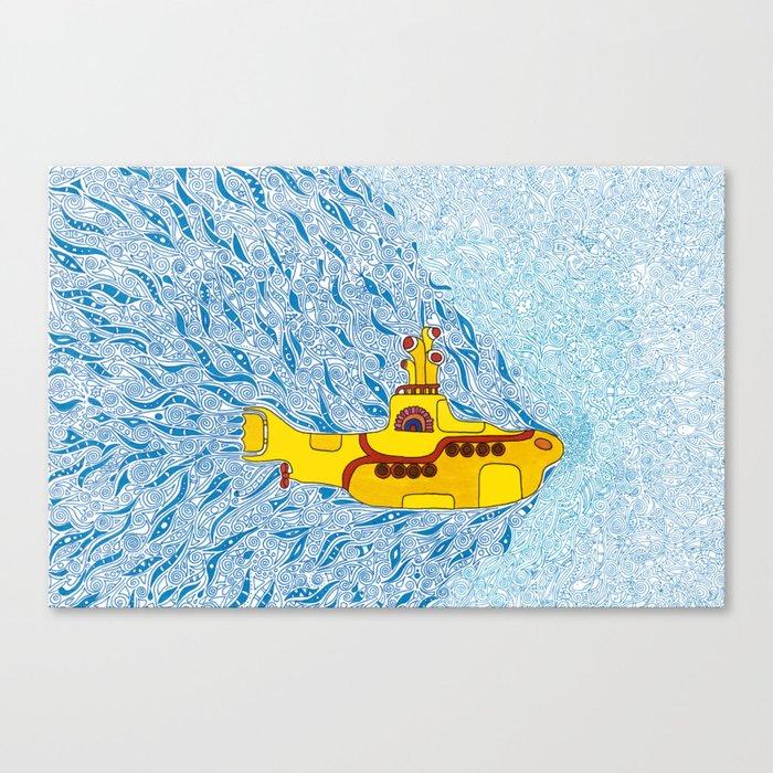 My Yellow Submarine Leinwanddruck
