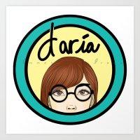 daria Art Prints featuring Daria by Emmanuella Draws