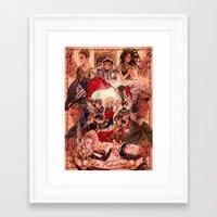 les mis Framed Art Prints featuring LES MIS by Daniela Viçoso