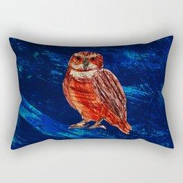 Owl at Night Rectangular Pillow