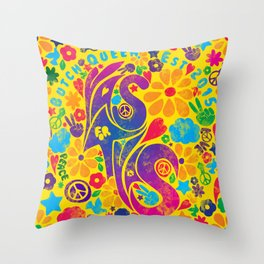 BQ - Yas4Yas 60s Throwback Throw Pillow
