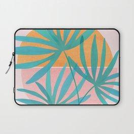 Retro Sunset Palms Laptop Sleeve