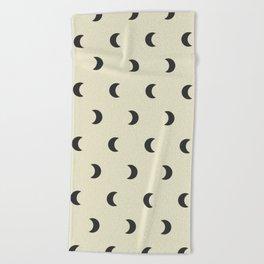 Crescent/Waning Moon Pattern XII Beach Towel