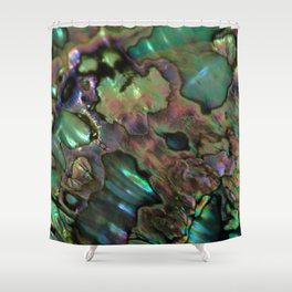 Oil Slick Abalone Mother Of Pearl Shower Curtain