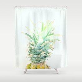 Pineapple slice - mosaic Shower Curtain