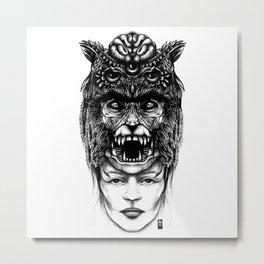 WolfGirl Second Metal Print