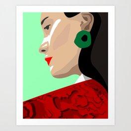 Madrid Girl Art Print