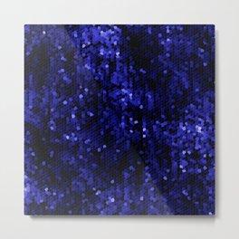Midnight blue jewel mosaic Metal Print