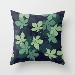 Green Leaves 1 Throw Pillow
