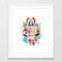 cancer Framed Art Prints featuring Cancer by Sara Eshak