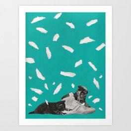 Kicks & Kittens Art Print