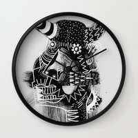 cow Wall Clocks featuring COW by Benson Koo