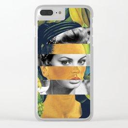 Self Portrait with Bonito & Sophia Loren Clear iPhone Case