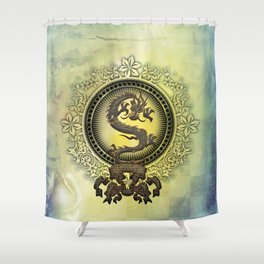 The chinese dragon Shower Curtain