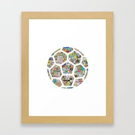 Philately Soccer Ball Framed Art Print